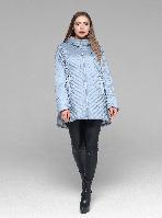 Модная женская демисезонная куртка из новой коллекции CLASNA CW19C306CWL голубая