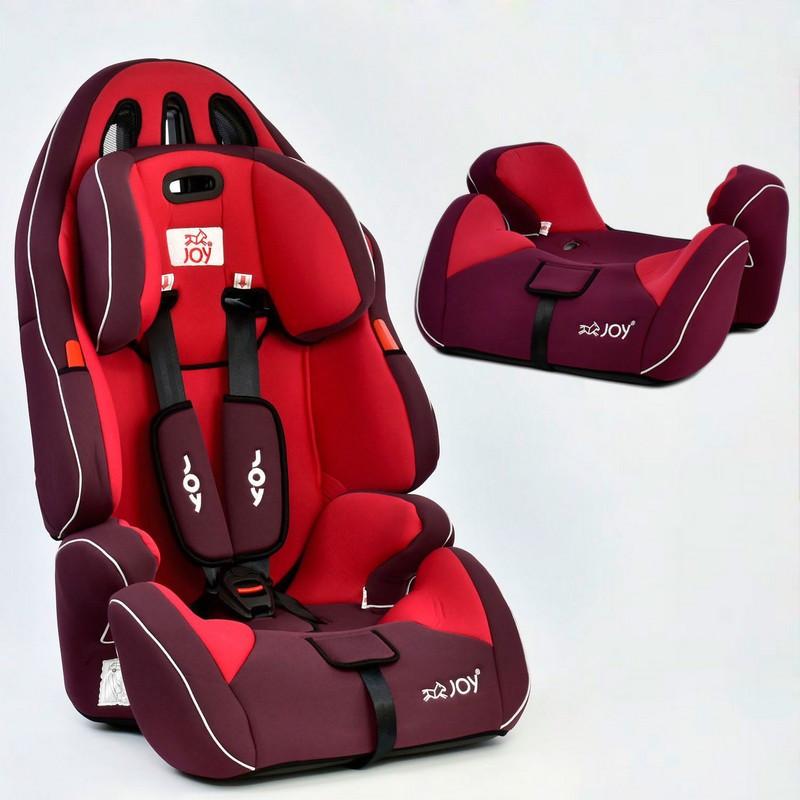 Автокресло детское JOY (группа 1-2-3) G 4566 красное ***