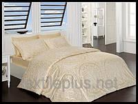 Постельное белье First choice сатин двуспальный евро размер Vanessa golden (kod 3875)