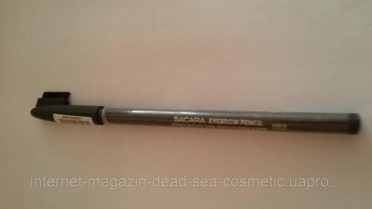 Карандаш для бровей с щеточкой Sacara #003 серый