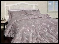 Постельное белье First choice сатин двуспальный евро размер Carmina vizon (kod 3878)