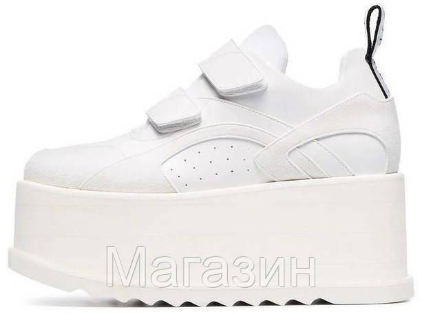 004958d58 Женские кроссовки на платформе Stella McCartney Eclypse Platform Sneakers  Стелла МакКартни на липучке белые - Магазин