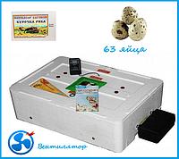 "Инкубатор ""Курочка ряба"" на 63 яйца  (цифровой терморегулятор) автоматический переворот, фото 1"