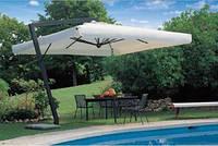 """Чёрный консольный зонт """"XL""""с куполом -3x3м (с металлической стойкой)"""