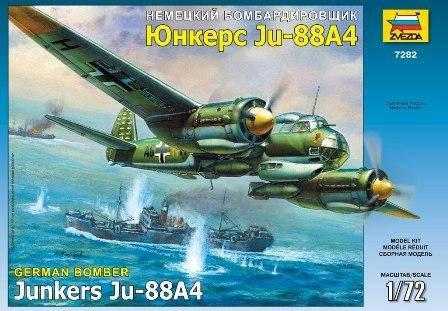 Сборная модель немецкого бомбардировщика ЮНКЕРС JU-88A4 в масштабе 1/72. ZVEZDA 7282, фото 2