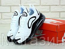 Мужские спортивные кроссовки Nike Air Max 720 White / Black Найк Аир Макс 720 белые, фото 3