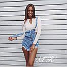 Комбинезон джинсовый шортами, фото 6