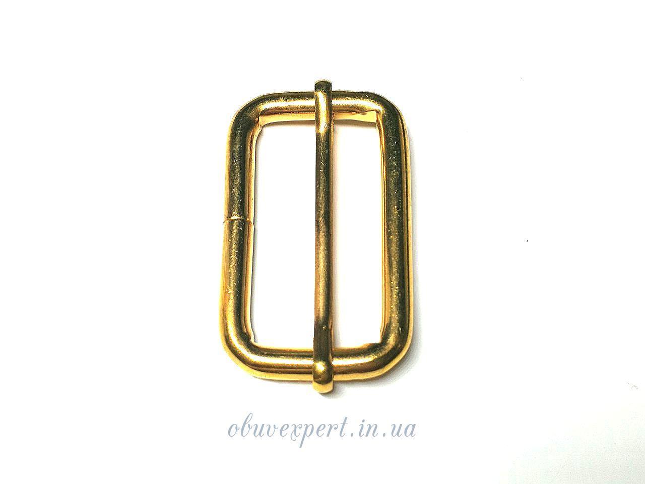 Рамка  с перемычкой 40*20 мм, толщ. 5 мм, Золото