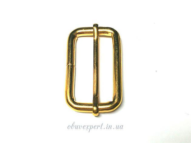 Рамка  с перемычкой 40*20 мм, толщ. 5 мм, Золото, фото 2