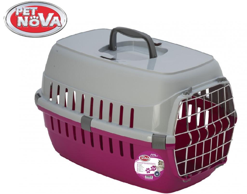 Контейнер-переноска для собак Pet Nova Securetrans 48.5х32.3х30.1 см Розовый