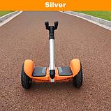 Удлинитель руль универсальный для Xiaomi Ninebot PRO и Mini (серебрянный и черный) в сборе с рулем  2 в 1, фото 7