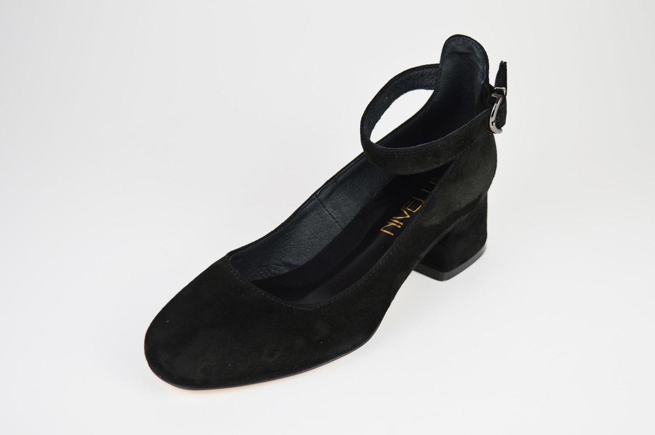 Класичні чорні туфлі на невисокому каблуці Nivelle 1921 36 розмір, 23,5 см