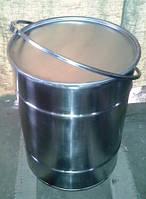 Изготовление металлических бочек  под крышку с обручем из нержавейки 100  л. в Харькове.