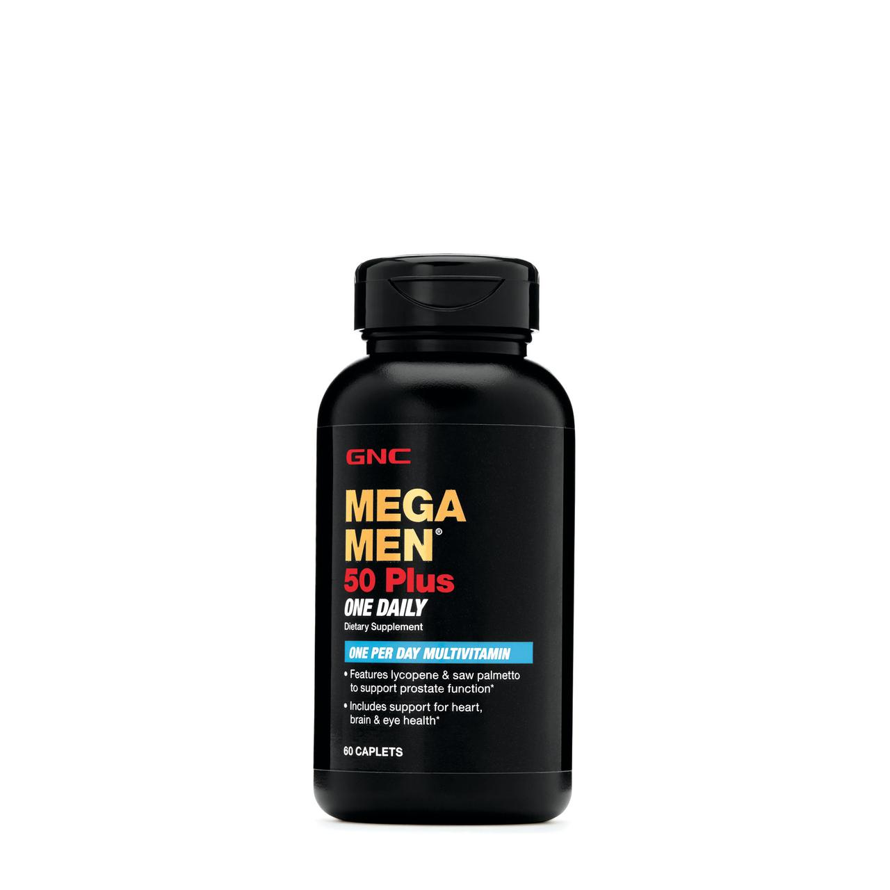 Витамины для мужчин GNC Mega Men 50 Plus One Daily Multivitamin 60 caplets