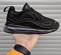 Мужские кроссовки Nike Air Max 720 черные. Живое фото. Топ реплика c3d32ed8a35fd