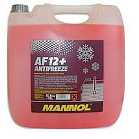 Антифриз Mannol Antifreeze AF12+ -40 ˚C красный 10 л