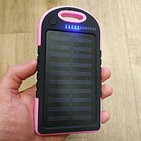 Power Bank Solar Samsung Charger 20 700 mAh Солнечное зарядное повер банк внешний аккумулятор Самсунг розовый, фото 1