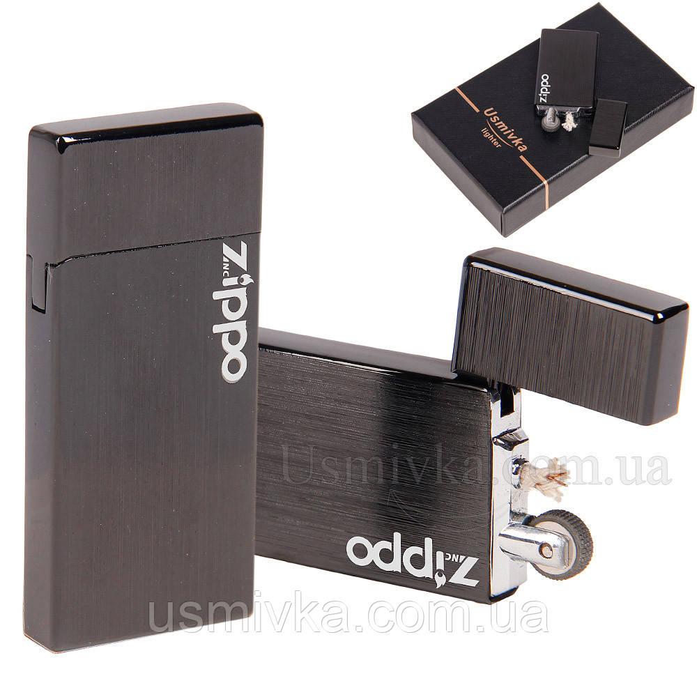 Бензиновая зажигалка Zorro черная 33326BZP
