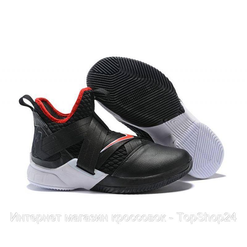 "Баскетбольные кроссовки Nike Lebron Soldier 12 ""Bred"" (реплика А+++)"
