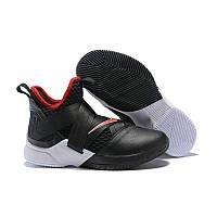 "Баскетбольные кроссовки Nike Lebron Soldier 12 ""Bred"" (реплика А+++), фото 1"