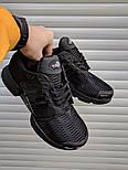 Мужские кроссовки Adidas ClimaCool Black. Живое фото (Реплика ААА+), фото 2