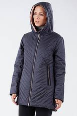 Модная женская демисезонная куртка из новой коллекции CLASNA CW19C306CWL графитовая, фото 3
