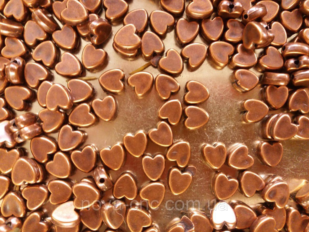 """Намистини """"серце"""" бронза 500 грам"""