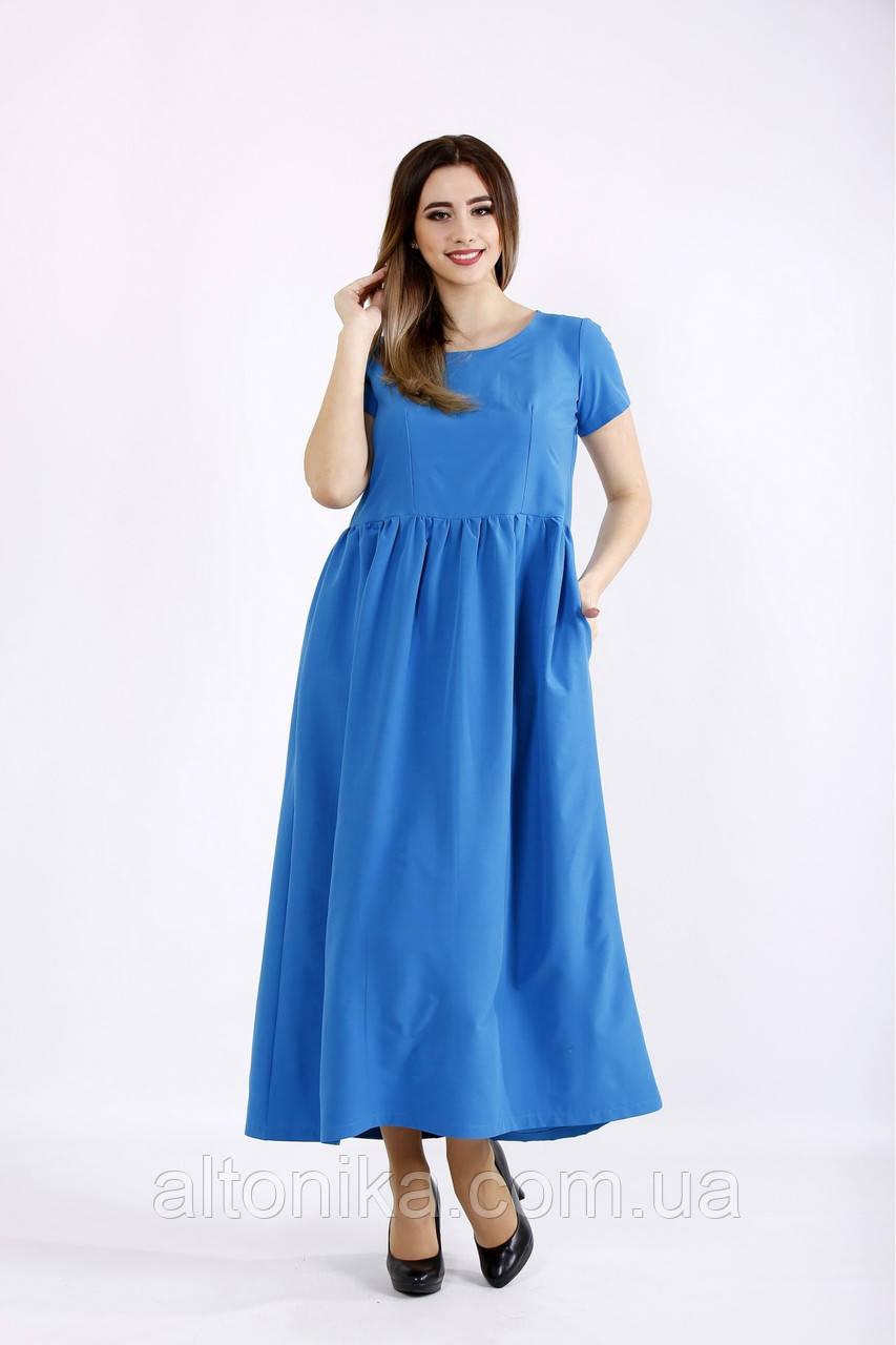 Свободное длинное платье | 42-74