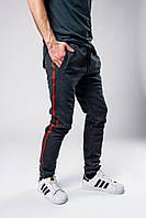 Спортивные штаны мужские весенне/осенние с лампасами, цвет серый, фото 1