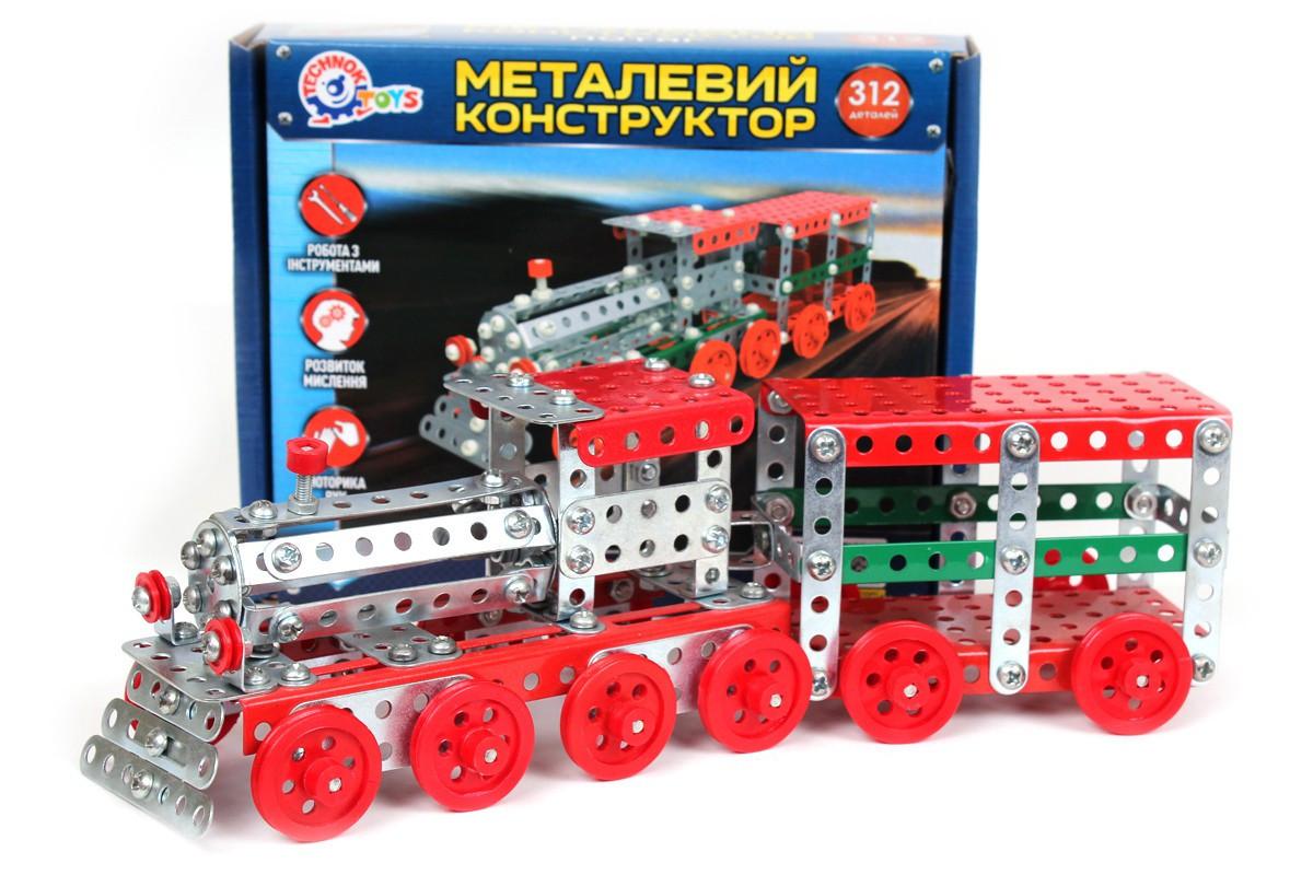 Конструктор металевий Поїзд Технок 4814