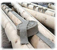 Межвенцовый утеплитель для деревянного дома в ленте джут/лен шир.8 см длина 25 м упаковка 5000 м, фото 1