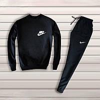 Мужской спортивный костюм, чоловічий костюм Nike Найк (черный), Реплика