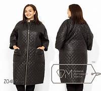 Пальто-кокон из плащевки на подкладе и синтепоном c 56 по 62 размер, фото 1