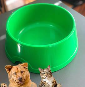 Миска для кота собаки, для сухого корму, 1л