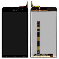 Дисплейный модуль (экран и сенсор) для Asus ZenFone 6 (A600CG, A601CG), черный, оригинал