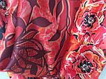 Платок шелковый (атлас) 10153-5, павлопосадский платок (атласный) шелковый с подрубкой, фото 7