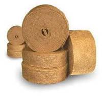 Межвенцовый утеплитель для деревянного дома в ленте джут/лен шир.12 см длина 25 м упаковка 500 м, фото 1