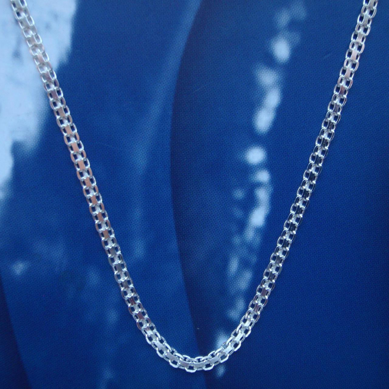 Серебряная цепочка, 500мм, 5 грамм, плетение Двойной якорек