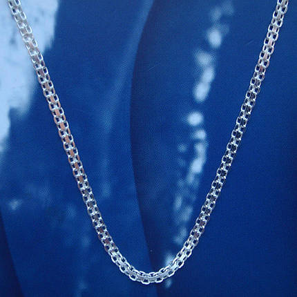 Серебряная цепочка, 500мм, 5 грамм, плетение Двойной якорек, фото 2