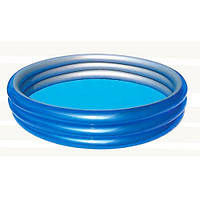 Надувной бассейн BestWay 51041 Металлик, круглый, 3 кольца 150-53см