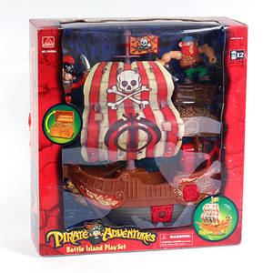 Пиратский корабль 16486AB с пиратами
