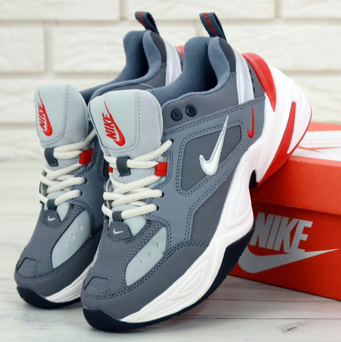 Nike M2K Tekno grey  (в стиле Nike)