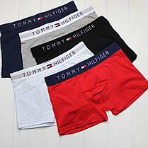 Мужские трусы боксеры транки Тommy Hilfiger Томми Хилфигер 3шт в упаковке, фото 3