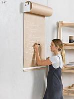 Доски меню для кофейни -Бумага для рисования в рулоне Melmark 86см. Корпус-белый, бумага-крафт 100м.