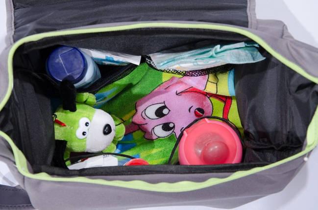 Сумка для коляски Baby Breeze 0350 графит с малиновым кантом, фото 2