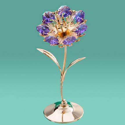 "Фигурка ""Цветок""  Crystocraft с кристаллами Swarovski, 0240-001/violet, фото 2"