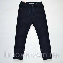 Котоновые брюки для мальчиков  цвет темно синий   122-152 см
