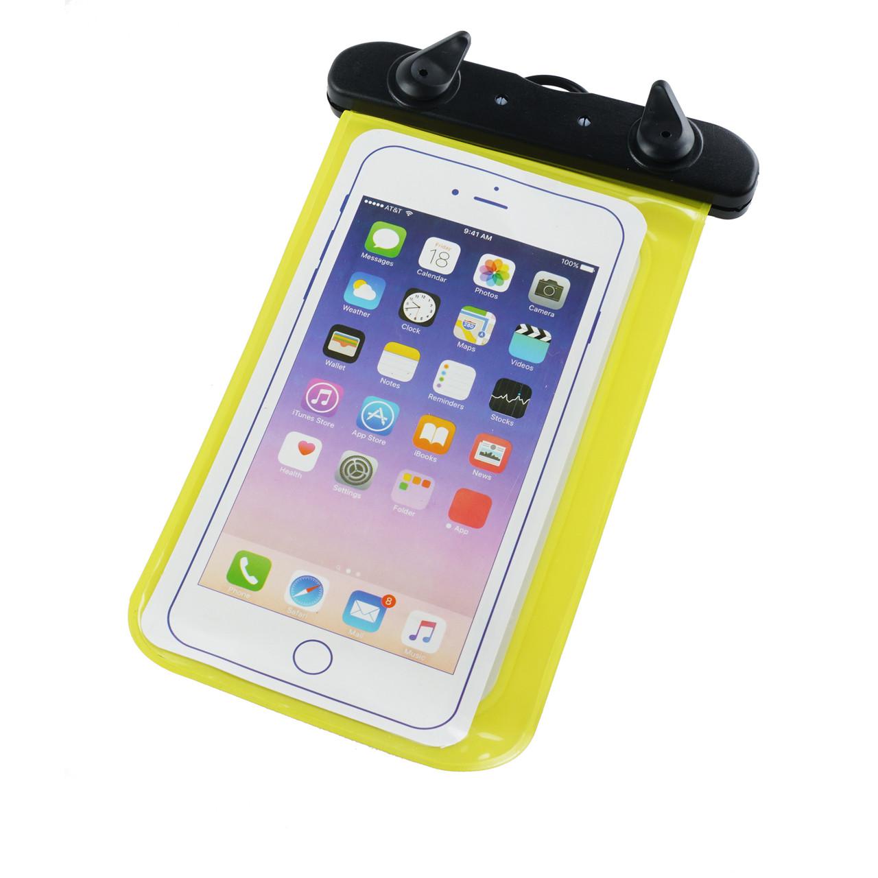 Водонепроницаемый чехол для телефона (черно-желтый)