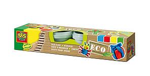 Масса для лепки незасыхающая Эко классик 4 цвета в пластиковых баночках Ses 24911S