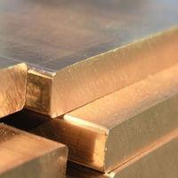 Плита латунная, лист 35х600х1500 мм Л63 ЛС59 мягкая,твёрдая
